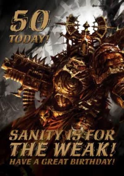 Warhammer Have A Great Birthday Personalised Age Card
