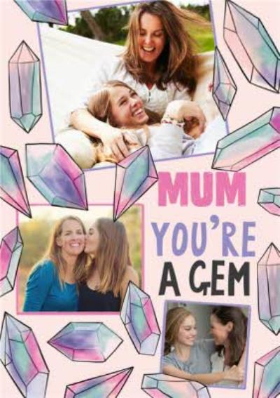 Colourful Stones Mum You're A Gem Mother's Day Card