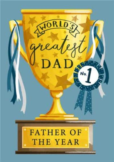 Traditional Father Of The Year Trophy Father's Day Card
