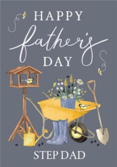Gardening Happy Father's Day Card For Step Dad