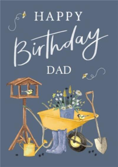 Happy Birthday Dad Gardening Illustrations Card