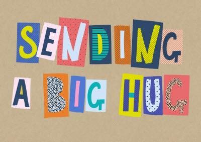 Word Up Sending A Big Hug Big Block Letters Card