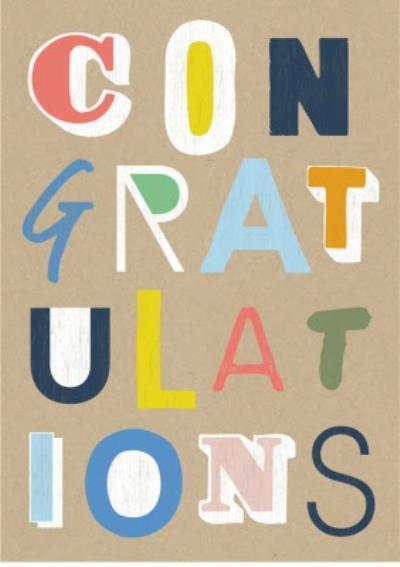 Wordy Congratulations card