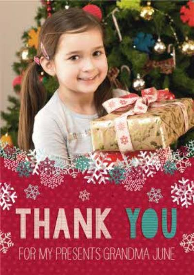 Thank You For My Presents Personalised Photo Upload Christmas Card