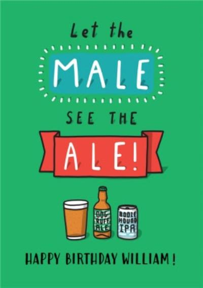 Funny cartoon beer ale male friend birthday card