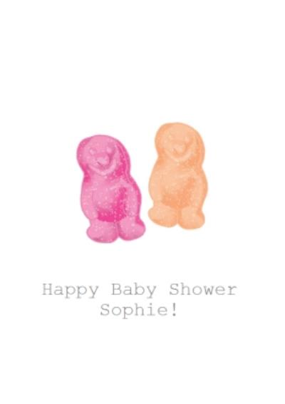 Jelly Baby Illustration Baby Shower Card