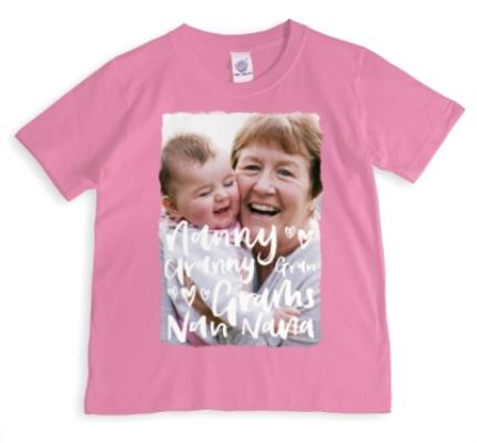T-Shirts - All The Nice Things To Say Personalised Photo T-Shirt For Grandma - Image 1