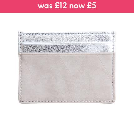 Jewellery & Accessories - Caroline Gardner Embossed & Metallic Silver Travel Card Holder - Image 1