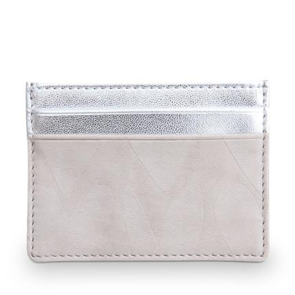Jewellery & Accessories - Caroline Gardner Embossed & Metallic Silver Travel Card Holder - Image 2