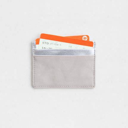 Jewellery & Accessories - Caroline Gardner Embossed & Metallic Silver Travel Card Holder - Image 3