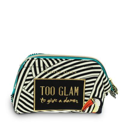 Jewellery & Accessories - Yvonne Ellen Too Glam To Give A Damn Make Up Bag - Image 1