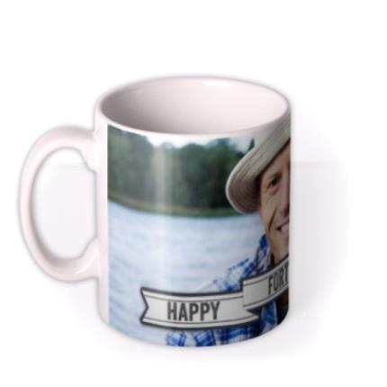 Mugs - Happy Birthday 40th Banner Photo Upload Mug - Image 1