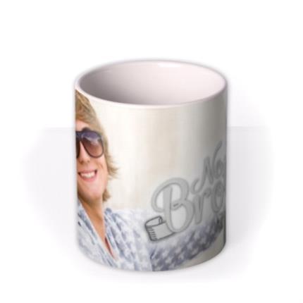 Mugs - Number One Brother Photo Upload Mug - Image 3