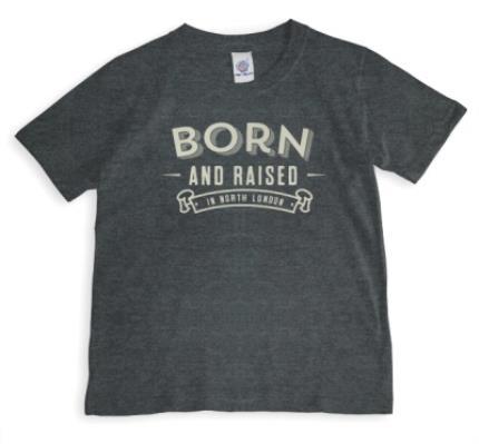 T-Shirts - Born & Raised Personalised T-Shirt - Image 1