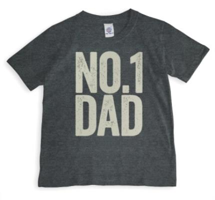T-Shirts - Father's Day No.1 Dad Personalised T-shirt - Image 1