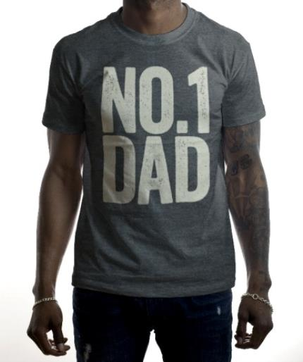 T-Shirts - Father's Day No.1 Dad Personalised T-shirt - Image 2