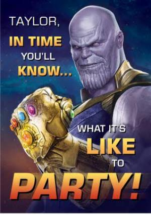 Greeting Cards - Birthday Card - The Avengers Infinity War - Marvel - Thanos - Image 1