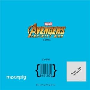 Greeting Cards - Birthday Card - The Avengers Infinity War - Marvel - Guardians of the Galaxy - photo upload card - Image 4