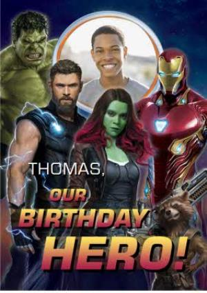 Greeting Cards - Birthday Card - The Avengers Infinity War - Marvel - Thor - Hulk- Iron Man - photo upload card - Image 1