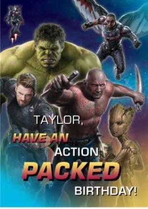 Greeting Cards - Birthday Card - The Avengers Infinity War - Marvel - Hulk - Drax - Groot - Captain America  - Image 1