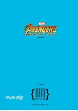 Greeting Cards - Birthday Card - The Avengers Infinity War - Marvel - Hulk - Drax - Groot - Captain America  - Image 4