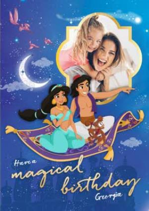 Greeting Cards - Aladdin Have a magical Birthday - Photo Upload Birthday Card - Image 1