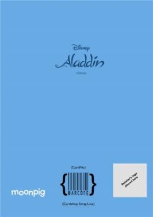 Greeting Cards - Aladdin Birthday Card - Genie - Granted three Birthday wishes Birthday Card - Image 4