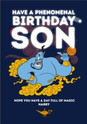 Greeting Cards - Aladdin Son Birthday Card - Genie Have a Phenomenal Birthday - Image 1