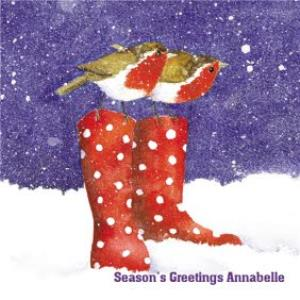 Greeting Cards - Almanac Gallery Personalised Robin Christmas Card - Image 1