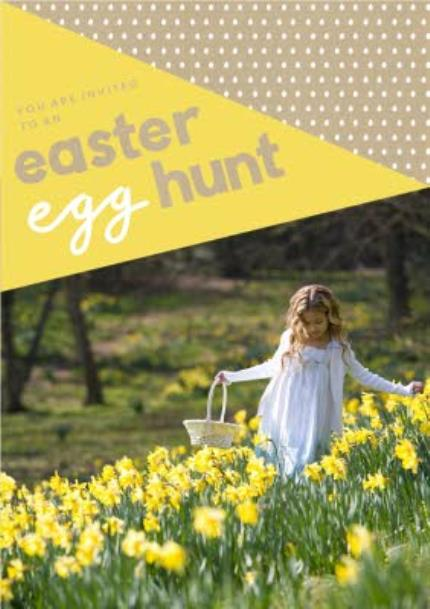 Greeting Cards - A Little Note Easter Egg Hunt Invitation Card - Image 1