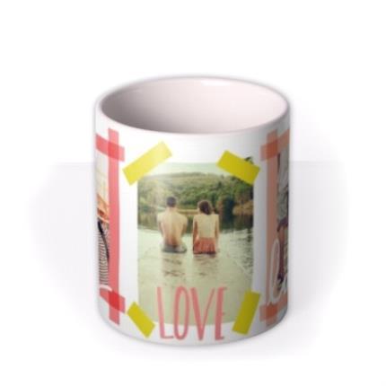 Mugs - Tape Live, Laugh, Love Multi-Photo Custom Mug - Image 3