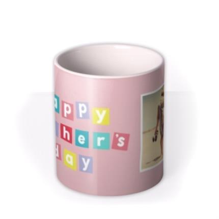 Mugs - Pastel Blocks Photo Upload Happy Mother's Day Mug - Image 3