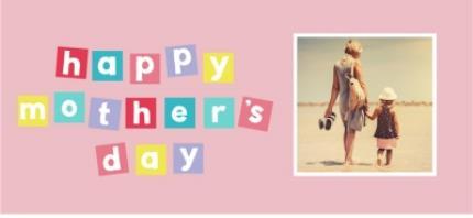 Mugs - Pastel Blocks Photo Upload Happy Mother's Day Mug - Image 4