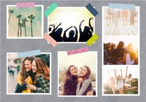 Greeting Cards - Instant Photo Style Multi-Photo Horizontal Card - Image 1