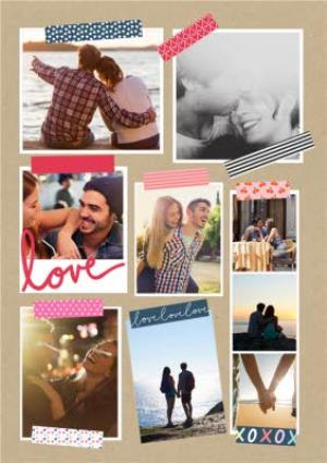 Greeting Cards - A Little Note Love 9-Photo Upload Card - Image 1