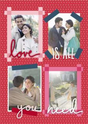Greeting Cards - A Little Note Love Is All You Need Photo Upload Card - Image 1