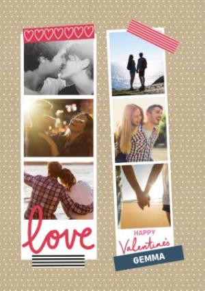 Greeting Cards - A Little Note Valentines Love Photo Upload Card - Image 1