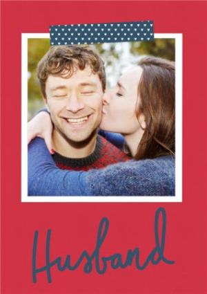 Greeting Cards - A Little Note Husband Photo Upload Card - Image 1