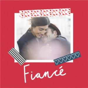 Greeting Cards - A Little Note Fiancé Photo Upload Card - Image 1