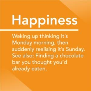 Greeting Cards - Alternative Type Happiness Definition Card - Image 1