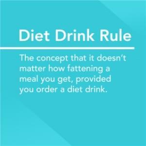 Greeting Cards - Alternative Type Diet Drink Rule Card - Image 1