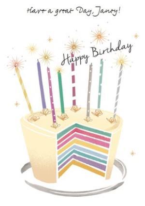 Greeting Cards - Birthday Card - Birthday Cake Card - Image 1