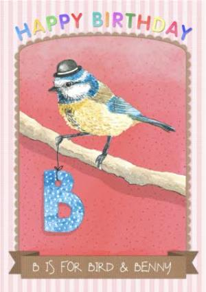 Greeting Cards - Alphabet Animals Antics B Is For Personalised Happy Birthday Card - Image 1