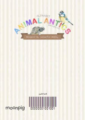 Greeting Cards - Letter E Alphabet Animal Antics Personalised Happy Birthday Card - Image 4