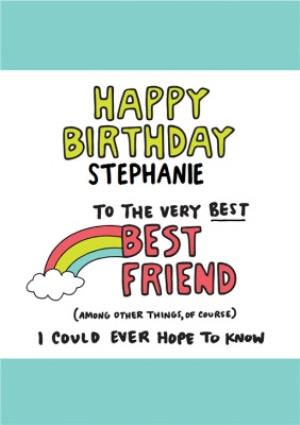 Greeting Cards - Angela Chick Best Friend Birthday Card  - Image 1