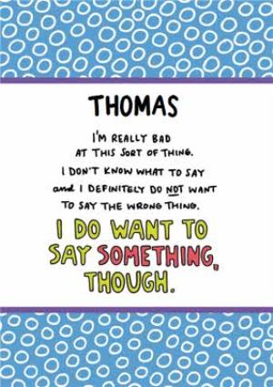 Greeting Cards - Angela Chick Empathy I don't know what to say depression anxiety mental health personalised Card - Image 1