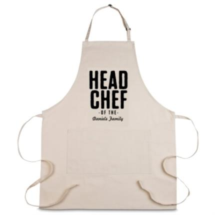 Gifts For Home - Personalised Head Chef Apron - Image 1