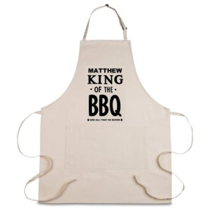 Gifts For Home - Personalised King of the BBQ Apron - Image 1