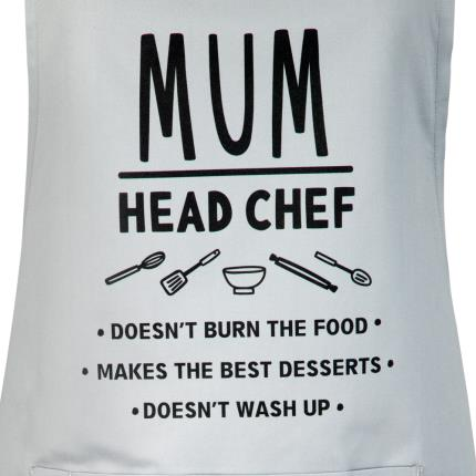 Gifts For Home - Mum Head Chef Adult Apron - Image 2