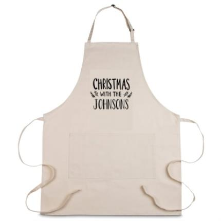 Gifts For Home - Personalised Christmas With The Johnsons Apron - Image 1